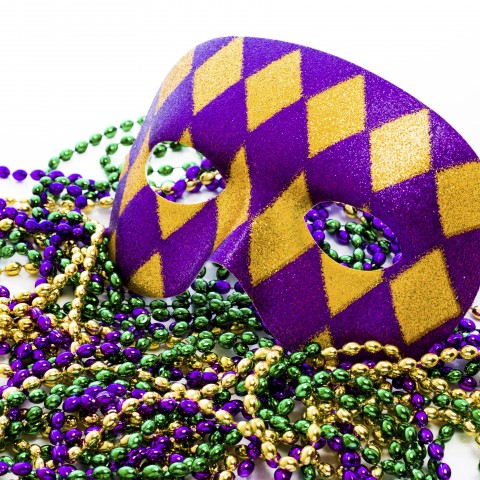 Colorful Carnival Mask and Jewelry