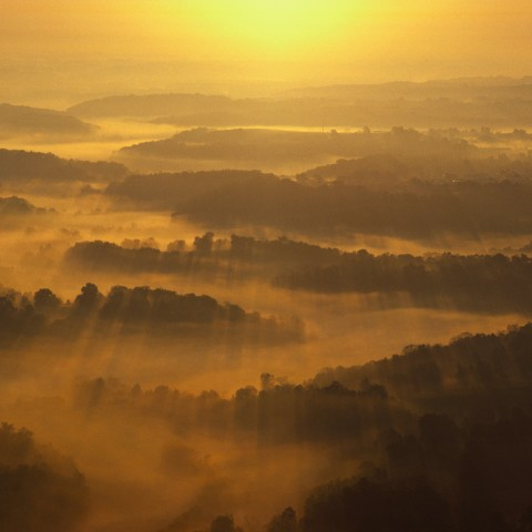 View of Misty Land from Above