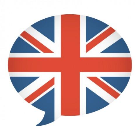 British Flag in a Speech Bubble Shape.