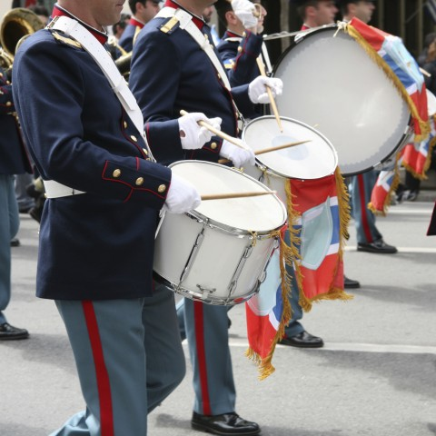 Drummers in a Parade