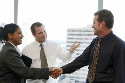 Business Associates Shaking Hands