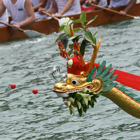 Dragon Boat on Water