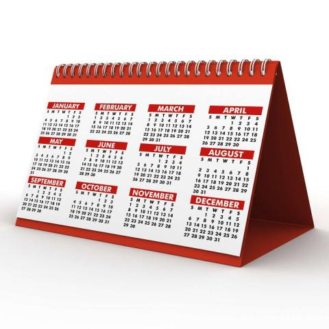 A Red Monthly Calendar
