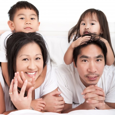Chinese Parents with their Children
