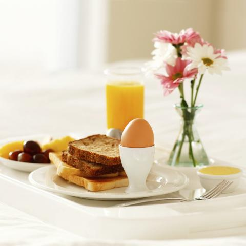 Breakfast Tray and Flower