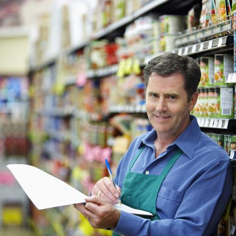 Store Clerk Writing