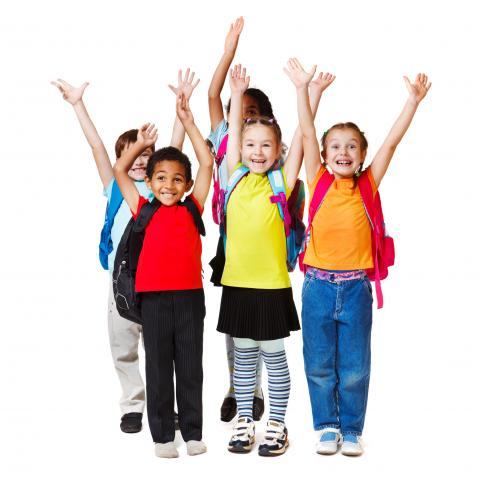 Children Holding Arms Up In Air