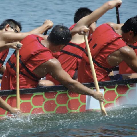 Racing a Dragon Boat
