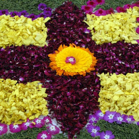 Flower Floor Decoration