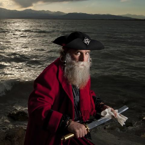 Pirate Near the Shore