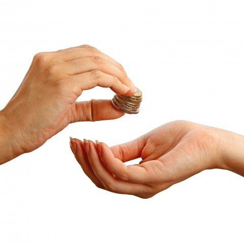 Handing Someone Money