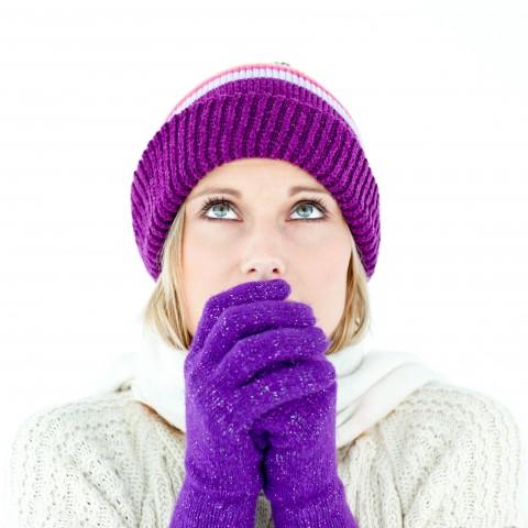Woman in Winter Gear Feeling Cold