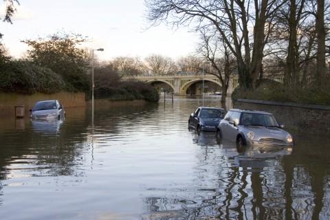 Bad Flooding on Road