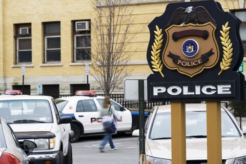 Police Station Sign