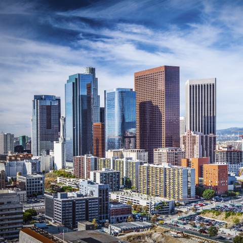 A Series of Skyscrapers in Los Angeles, California