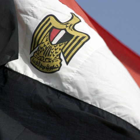Egyptian Flag is Flown