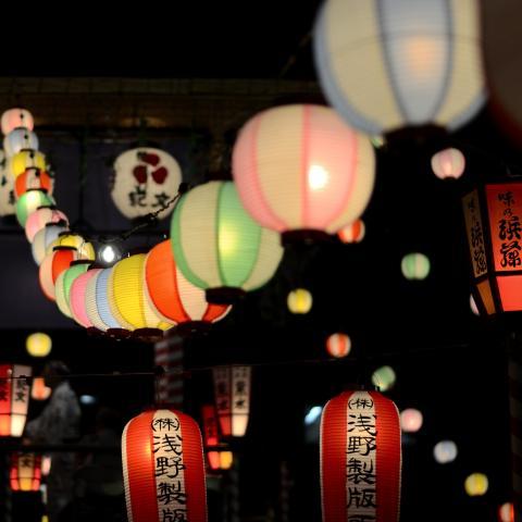 Paper Lanterns Hanging