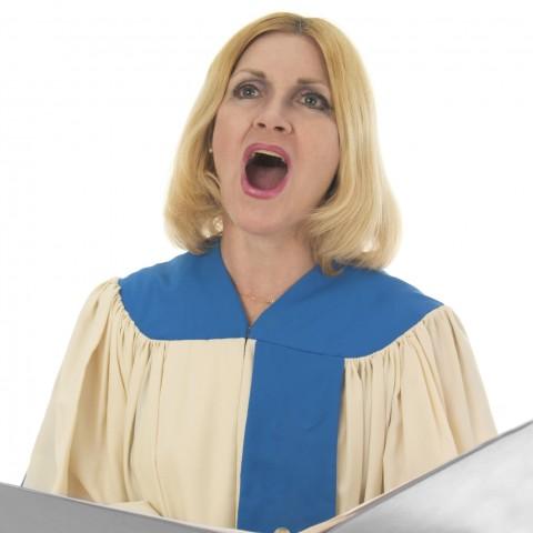 Person Singing in Choir