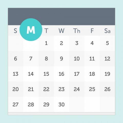 Monday on a Calendar