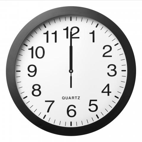 Clock Indicating Midnight