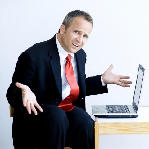 Uncomfortable Businessman