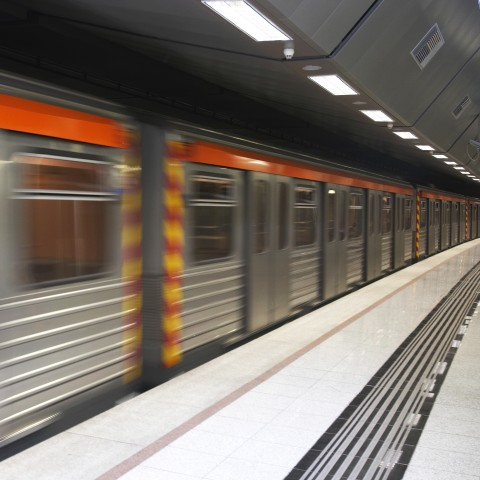 A Metro Passing by Really Fast