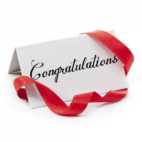 Congratulations Card with Ribbon