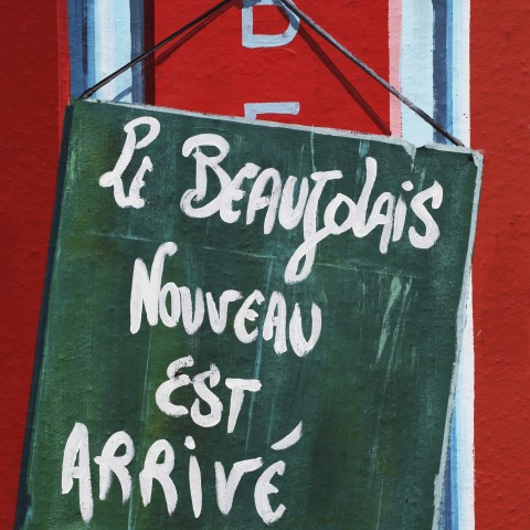 A Sign Written in French
