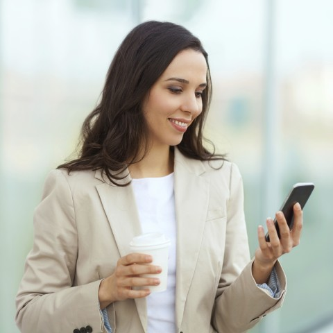 Woman Looking at Phone