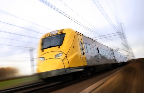 Fast Train Carriage, Yellow
