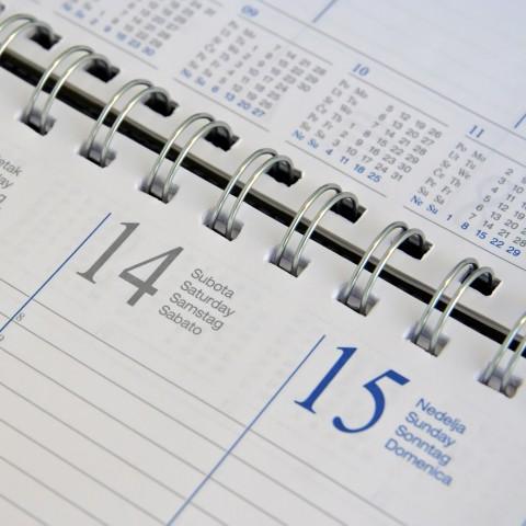 Part of a Calendar Demonstrating a Weekend