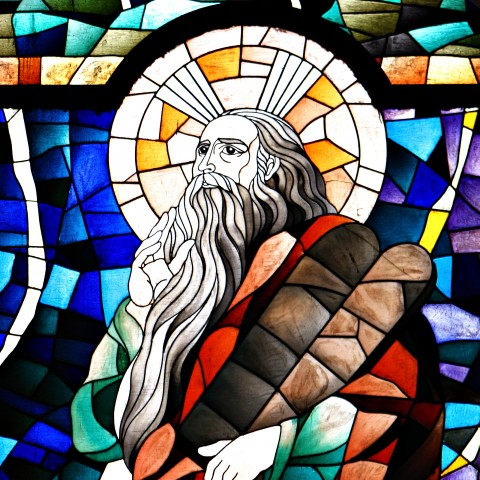 Prophet Elijah in Stained Glass