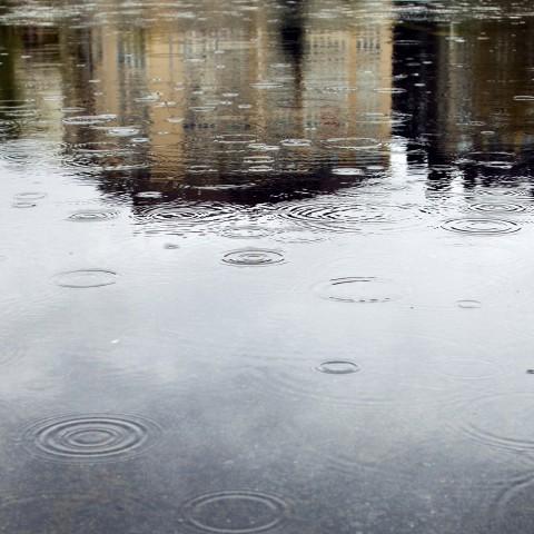 Raindrops Hitting Water