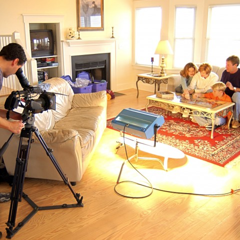 A Domestic Scene Being Filmed