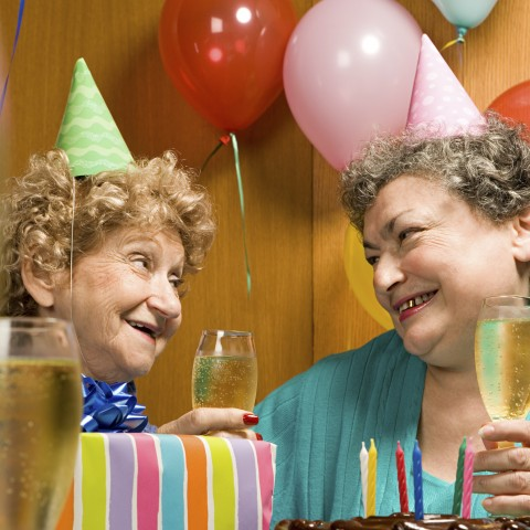 Old Women Celebrating