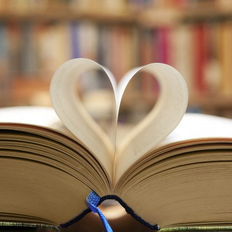 Book Whose Pages Are Making a Heart