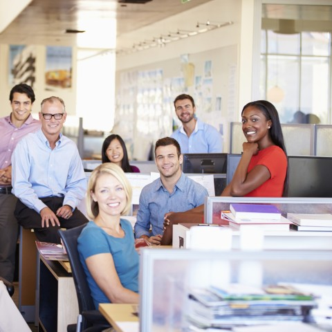 Coworkers in Office Together
