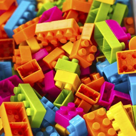 Cluster of Colorful Legos