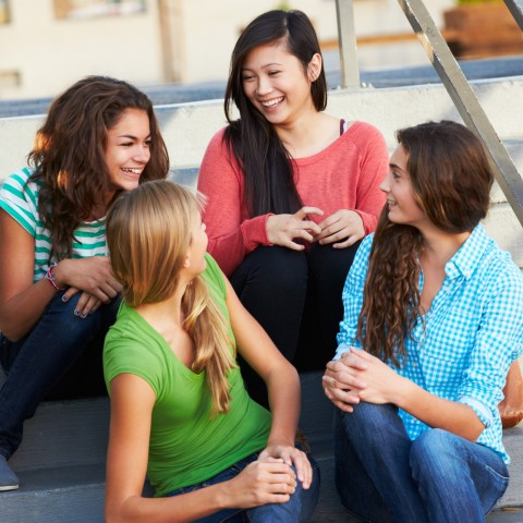 Group of Girls Talking
