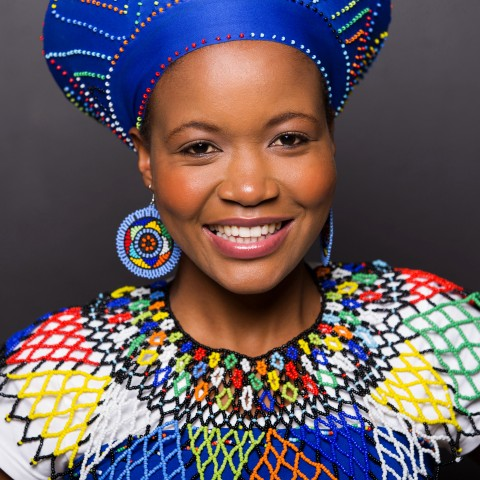 South African Heritage Day, Woman in Traditional Gear