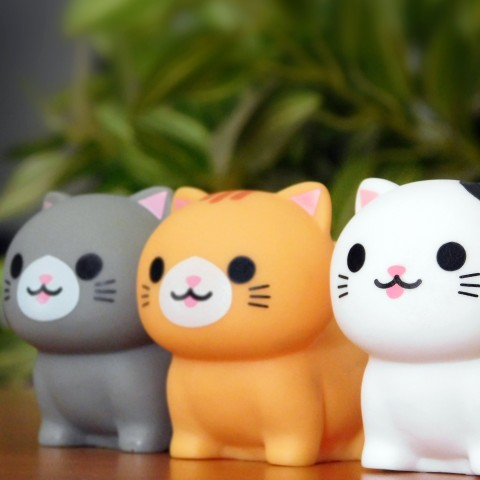 Smiling cat toys