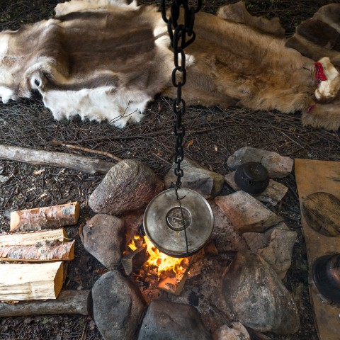 Furs Drying by Fire
