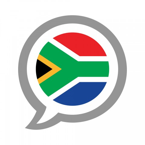 The South African Flag in a Speech Bubble