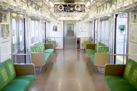 Interior of a Metro Car