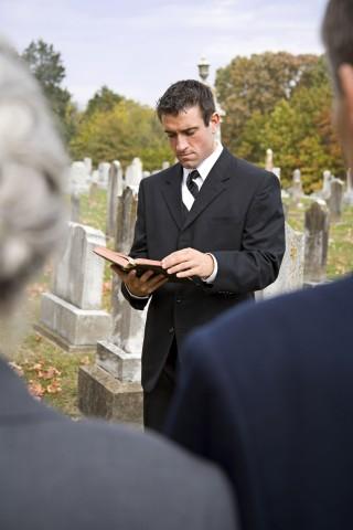 Funeral Talk in Cementery
