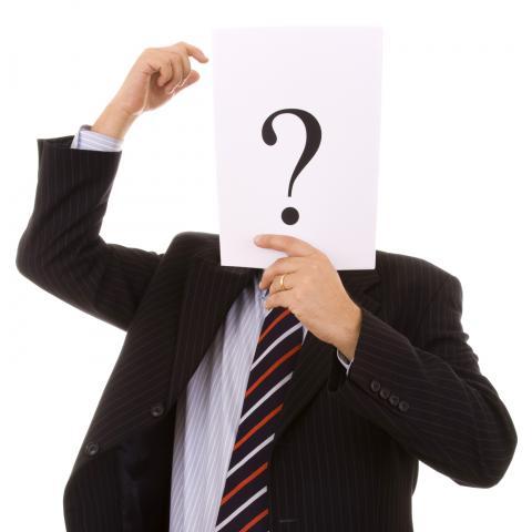 Man with Face Hidden