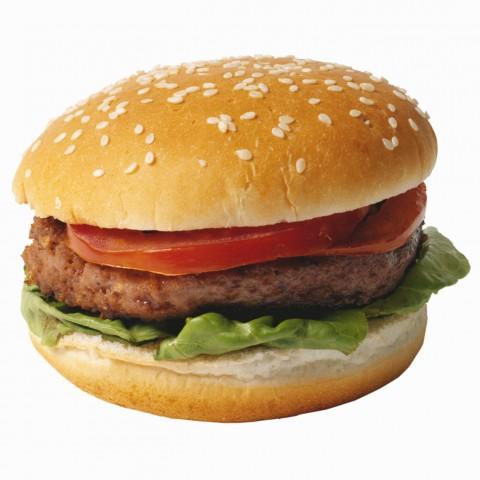 A Hamburger on a Sesame Seed Bun