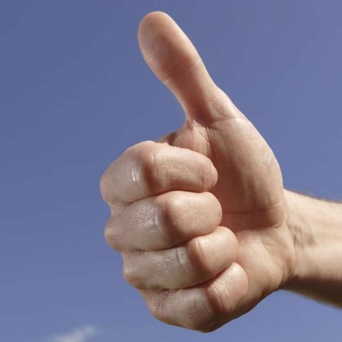 Hand With a Thumbs Up
