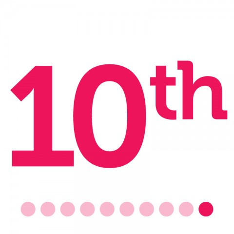 10th in Pink Text